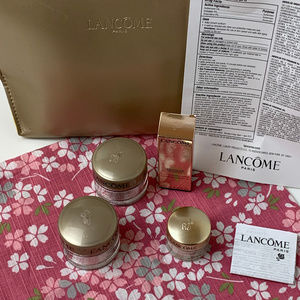New Lancome Genifique Skin Care Set with Gold Bag.